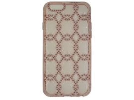iPhone X Silicone Diamond Chain-Patroon Achterkant